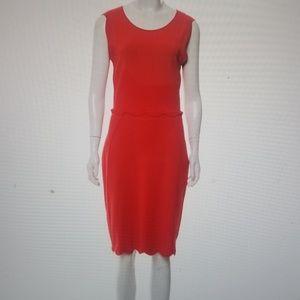 FENDI SLEEVELESS KNEE LENGTH RED DRESS US SZ 8